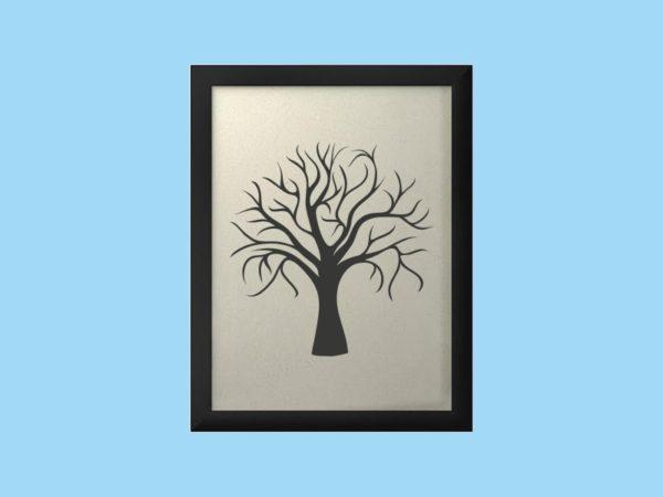 Svatební strom 1 v rámu 34 x 44 cm
