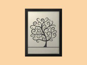 Svatební strom 2 v rámu 33 x 43 cm