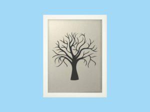 Svatební strom 1 v bílém rámu 33 x 43 cm