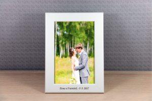 Bílý rámeček na fotku 10x15 cm s vlastním textem