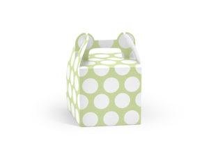 Krabičky Dot na výslužky - zelená