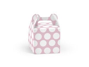 Krabičky Dot na výslužky - růžová