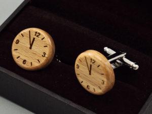 Manžetové knoflíčky - clock, 5 to 12