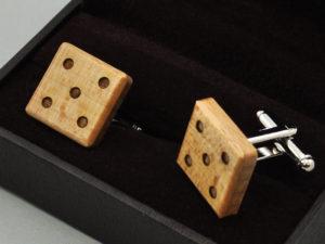 Manžetové knoflíčky - kostka