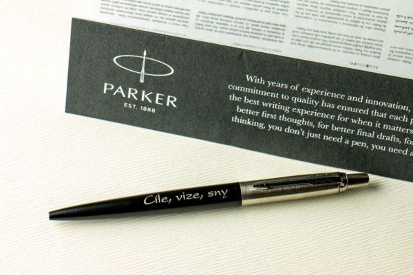 Parker Jotter Bond Street Black CT s věnováním